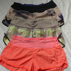 Bundle of 3 Lululemon speed shorts 4